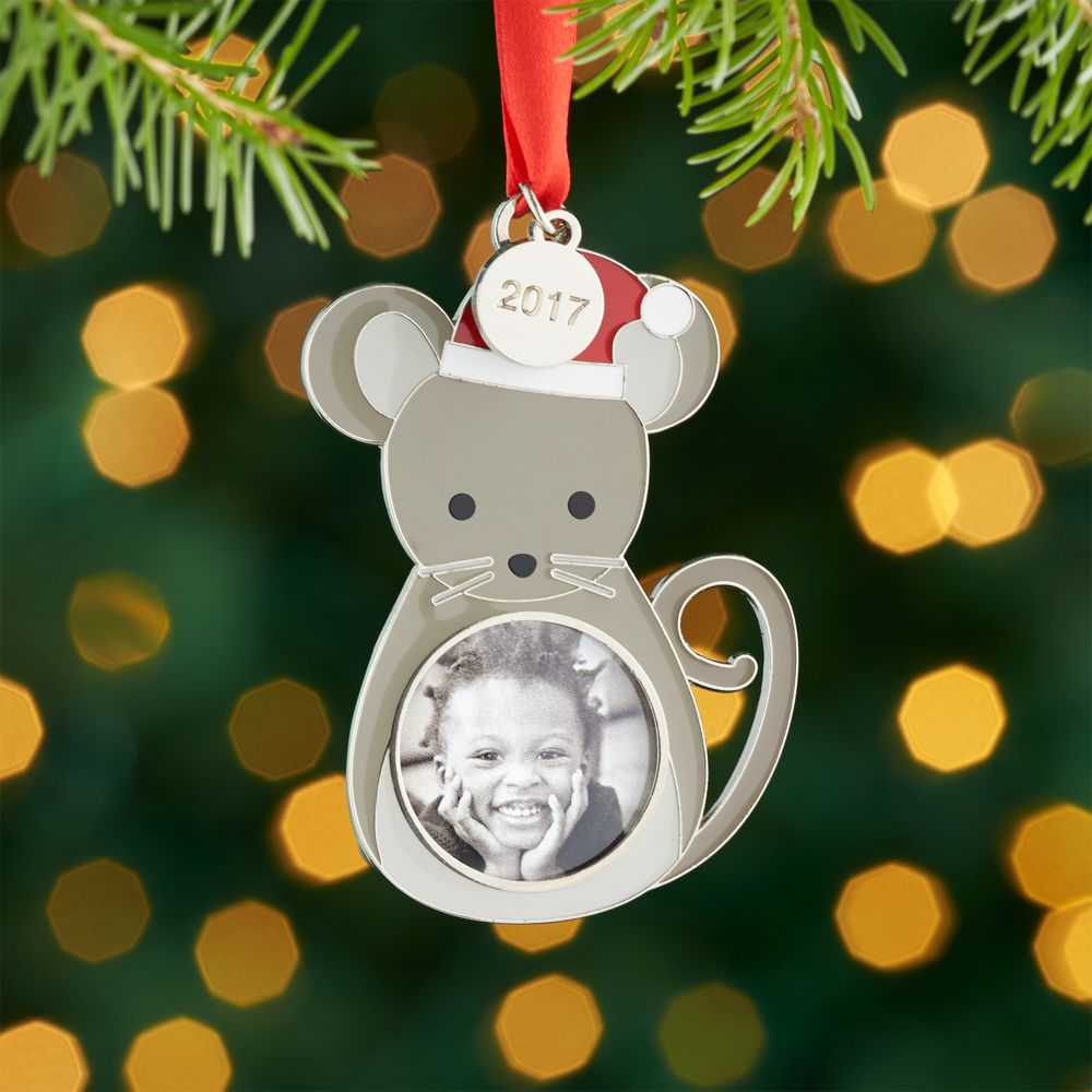 Mouse Ornament Frame with 2017 Charm