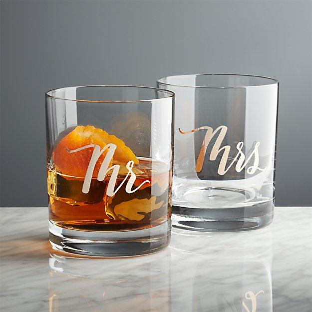 Mr. and Mrs. Rocks Glasses