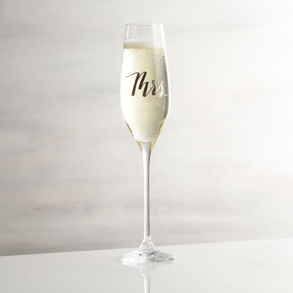 Mrs. Champagne Glass - Crate and Barrel