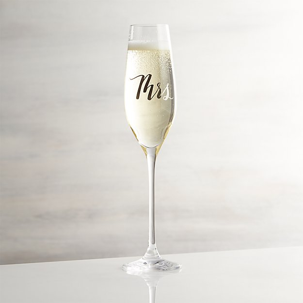 Mrs. Champagne Glass