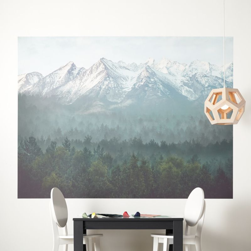 Geometric Mountain Wall Decal Mountain Decal Geometric Etsy