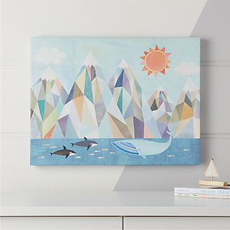 Mountain By The Sea Wall Art