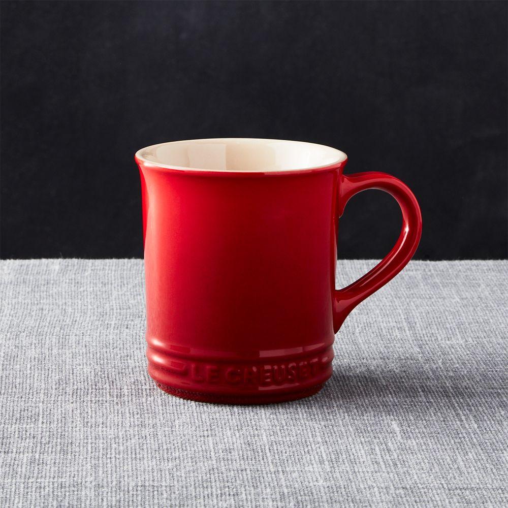 Le Creuset Cerise Red Mug - Crate and Barrel
