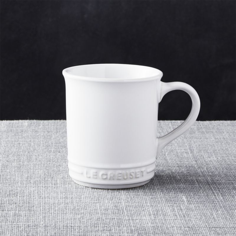 le creuset white mug reviews crate and barrel. Black Bedroom Furniture Sets. Home Design Ideas