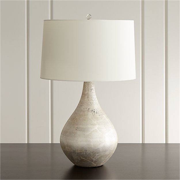 Mulino Silver Teardrop Lamp Crate and Barrel