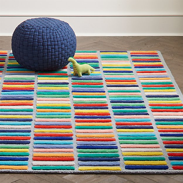 Multi Block Kids Rug Crate And Barrel