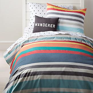 Multi-Color Striped Bedding