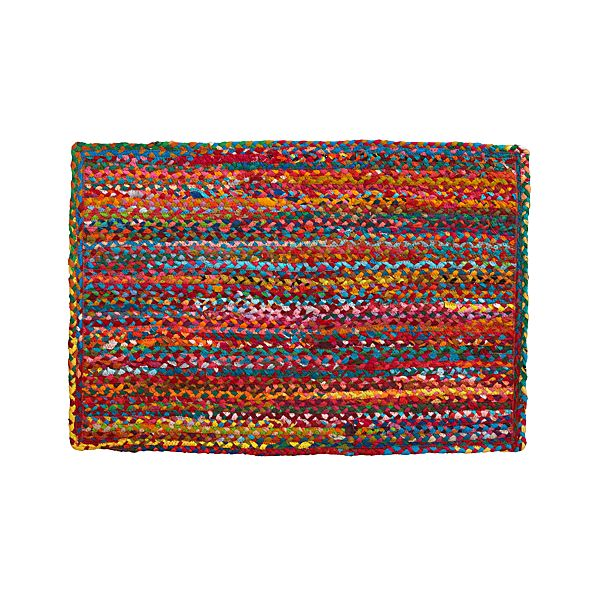 Multi Cotton 2'x3' Rag Rug