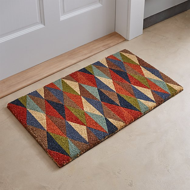 Multi diamond doormat crate and barrel for Cb2 indoor outdoor rug