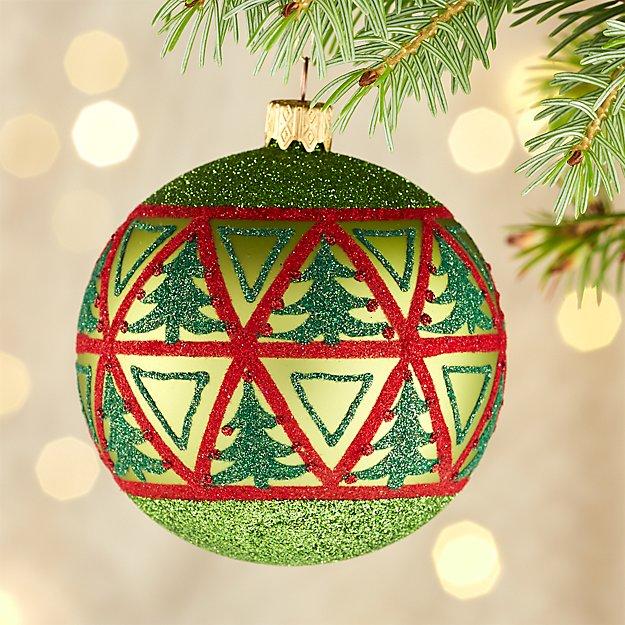 Multi Tree Green Ball Ornament