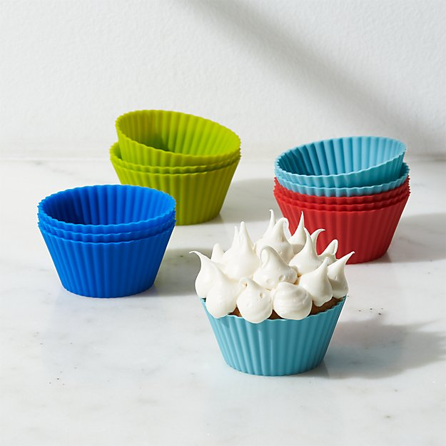 Set of 12 Multicolor Silicone Baking Cups - Image 1 of 2
