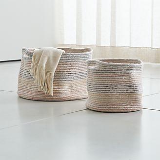 97cf9818bc Multicolor Zigzag Stitch Baskets