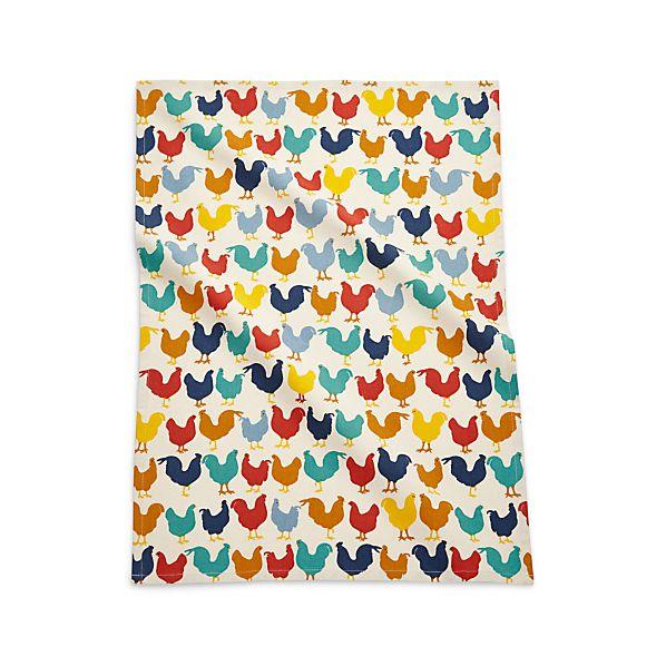 MulticoloredRoostersDishTowelAVF16