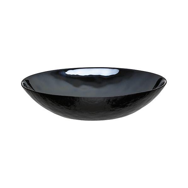 Murano Black Low Bowl