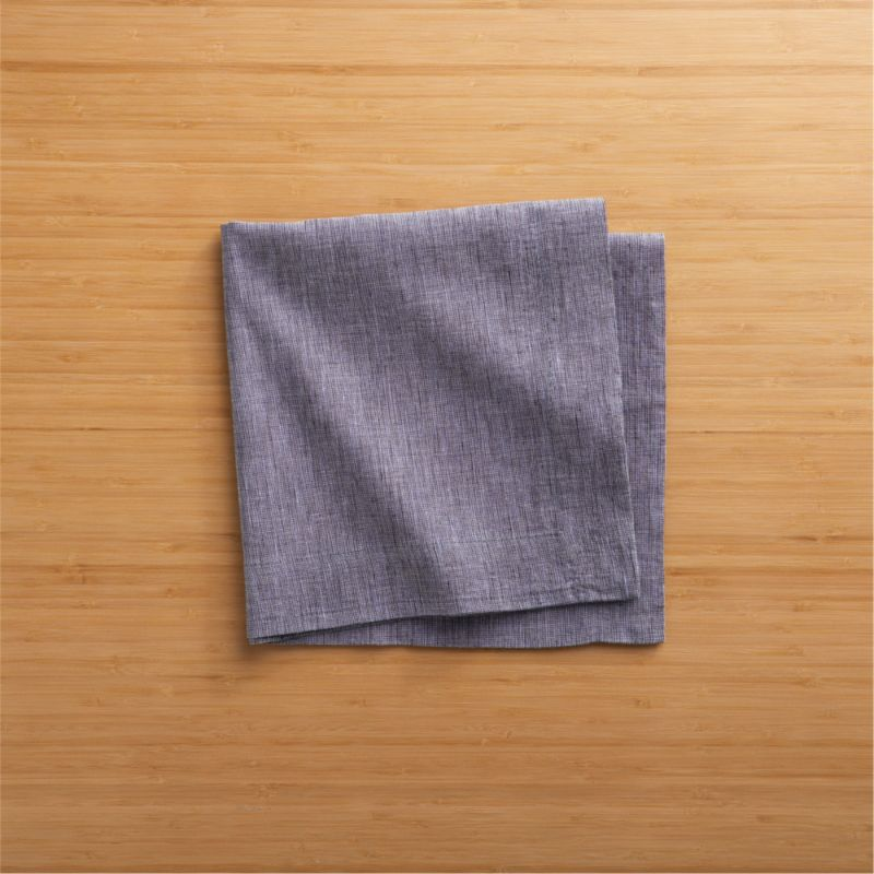 Three color threads of deep blue weave a saturated indigo napkin, pre-washed to a soft finish.<br /><br /><NEWTAG/><ul><li>55% linen and 45% cotton</li><li>Machine wash cold, dry flat</li><li>Do not tumble dry or iron</li></ul>