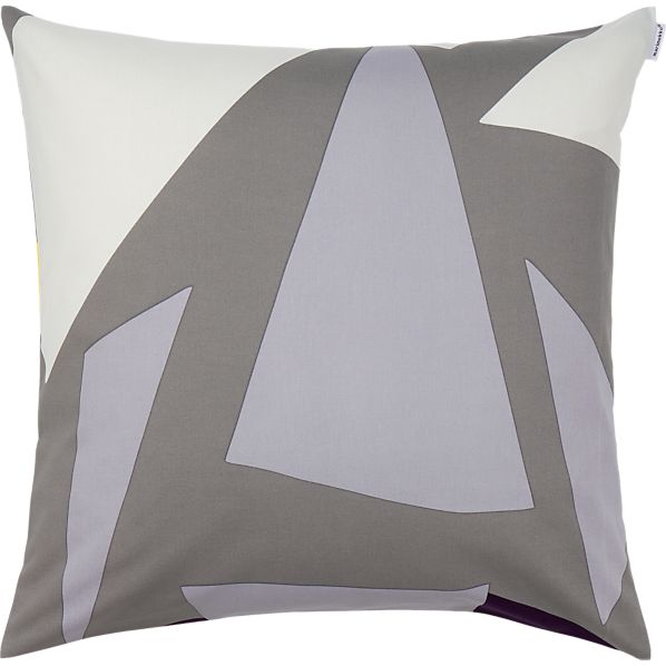 "Marimekko Musta Virta Grey 20"" Pillow"