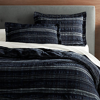 Nagano Seersucker Duvet Covers and Pillow Shams