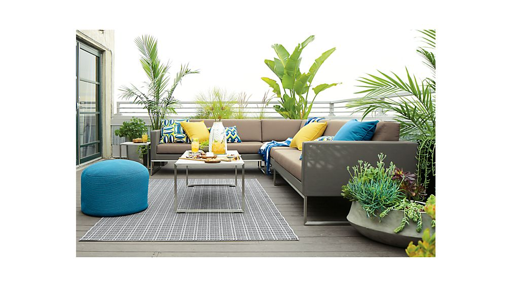 Dune 3-Piece Sectional Sofa with Sunbrella ® Cushions