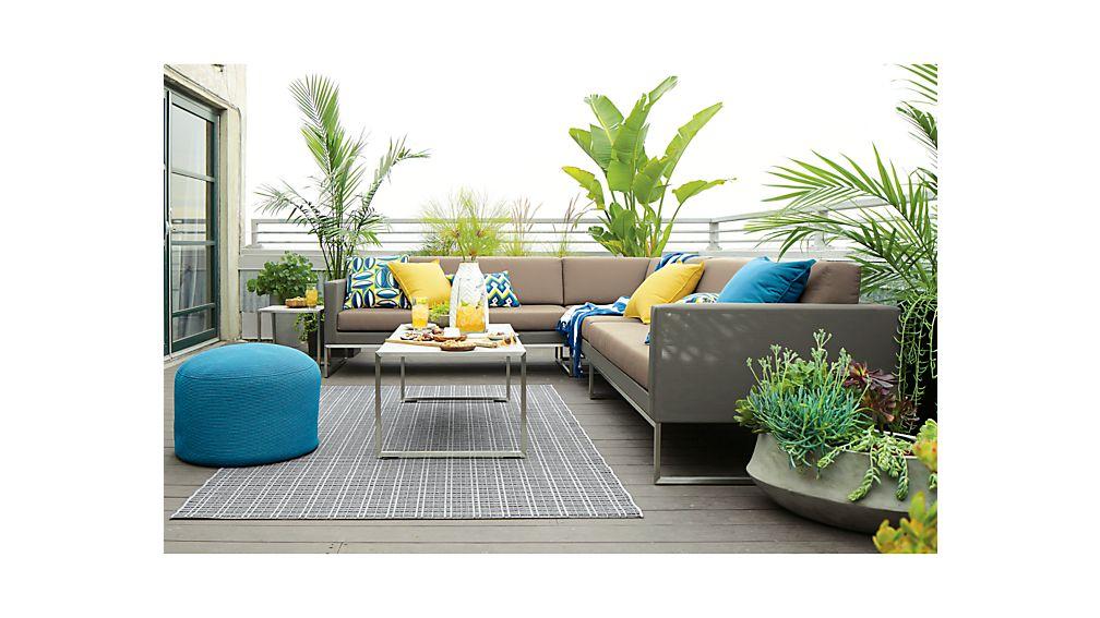 Dune 3-Piece Sectional Sofa with Sunbrella ® Cushions