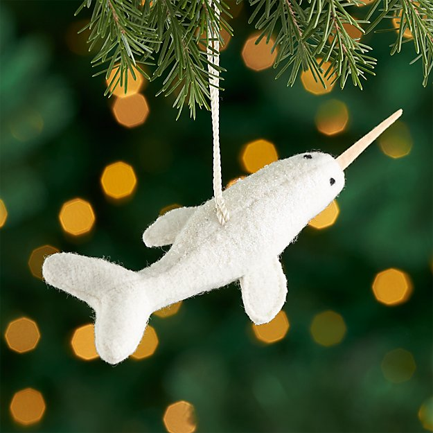 Nancy the Narwhal Ornament