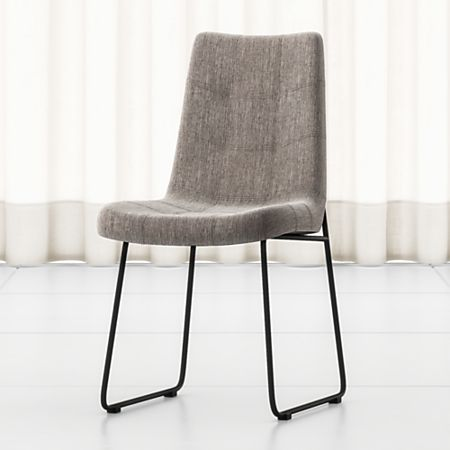 Miraculous Naomi Dempsey Flannel Tufted Dining Chair Creativecarmelina Interior Chair Design Creativecarmelinacom
