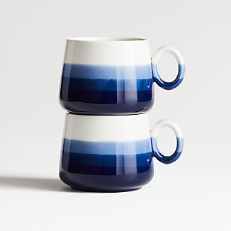 Nari Blue Stacking Teacups, Set of 2