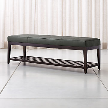 Surprising Leather Upholstered Benches For Your Home Crate And Barrel Machost Co Dining Chair Design Ideas Machostcouk