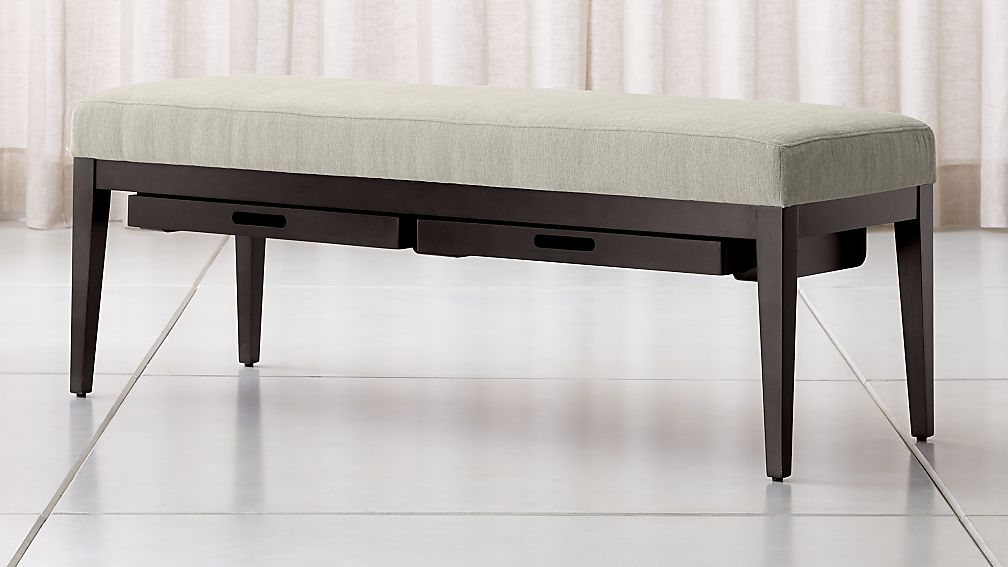 Nash Small Bench with Tray - Image 1 of 7