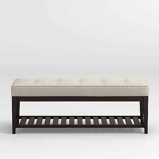 Nash Small Tufted Bench with Slats