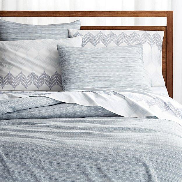 Nasoni Light Blue Duvet Covers And Pillow Shams Crate
