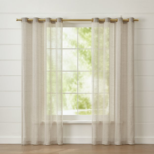 Natural Linen Sheer with Grommets - Image 1 of 3
