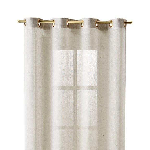 Natural Linen Sheer 52x96 Curtain Panel