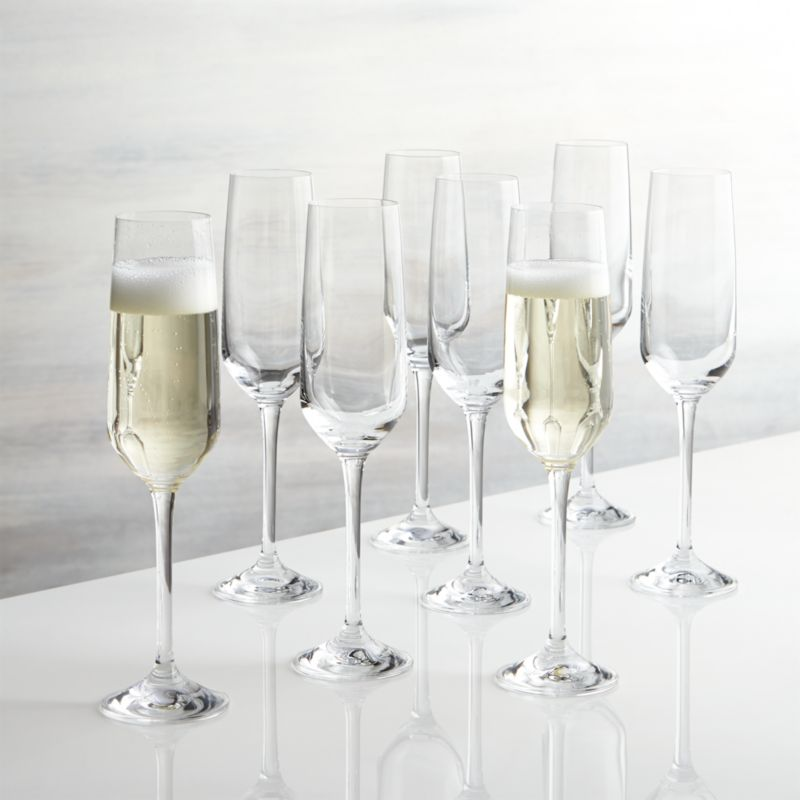 Nattie Champagne Glasses Set Of 8 Reviews Crate And