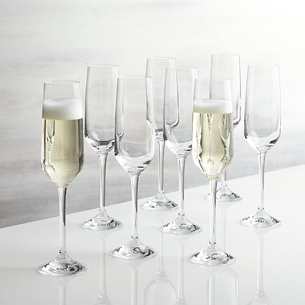 Nattie Champagne Glasses Set Of 8 Reviews Crate And Barrel