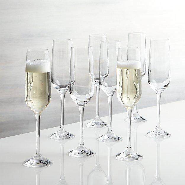 Nattie Champagne Glasses, Set Of 8 + Reviews