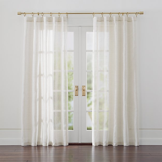 Linen Sheer Natural Curtains - Image 1 of 10