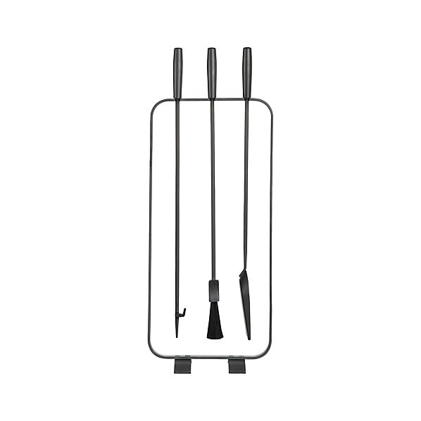 Natural Steel Fireplace Tool Set