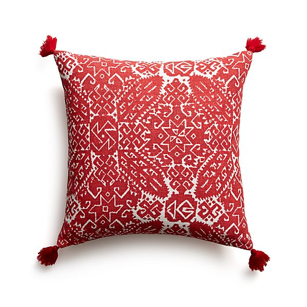 """Navidad 16"""" Pillow with Feather-Down Insert"""