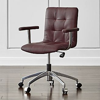 Pin It Navigator Saddle Brown Leather fice Chair