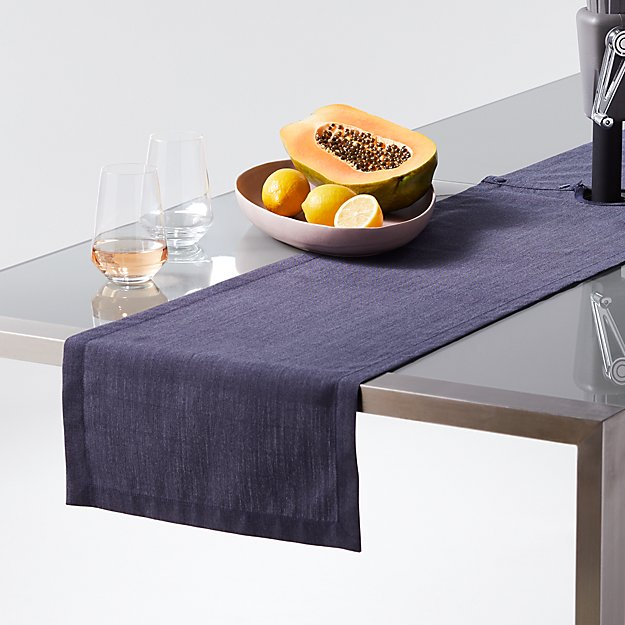 Navy Chambray Umbrella Table Runner - Image 1 of 2