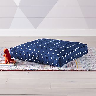 floor cushions. Cross Print Navy Blue Teepee Floor Cushion Cushions S