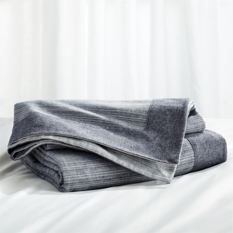 Neily Blue Blanket Crate and Barrel