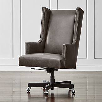 upholstered office chairs. Neo Leather Wingback Office Chair Upholstered Chairs