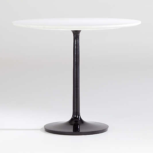 Nero White Marble Dining Table with Matte Black Base