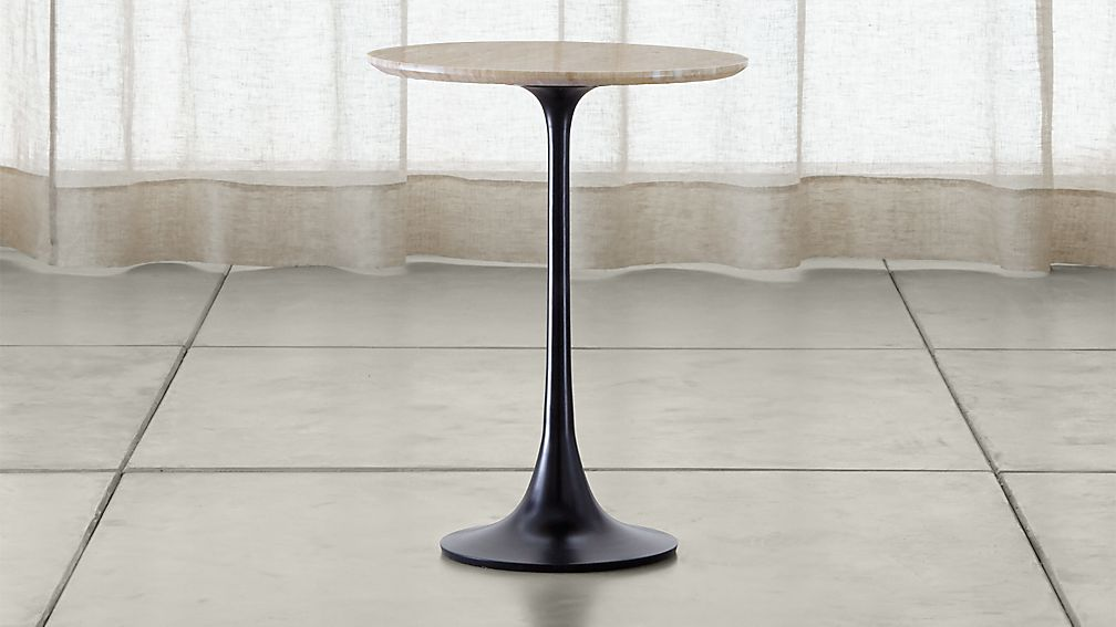 Nero Brown Marble Accent Table - Image 1 of 12