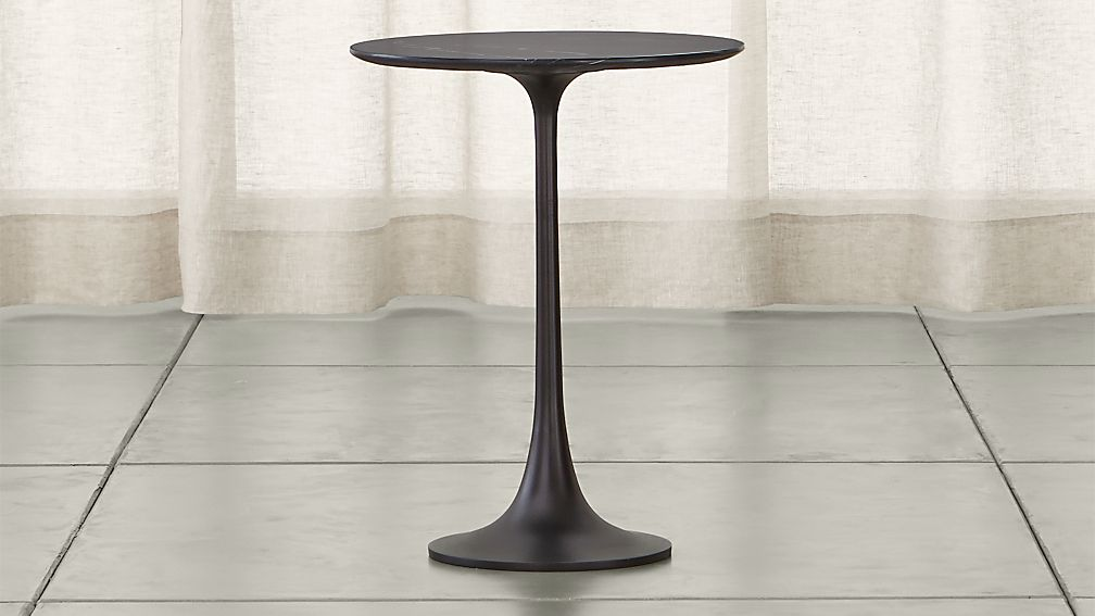 nero black marble accent table reviews crate and barrel - Crate And Barrel End Tables