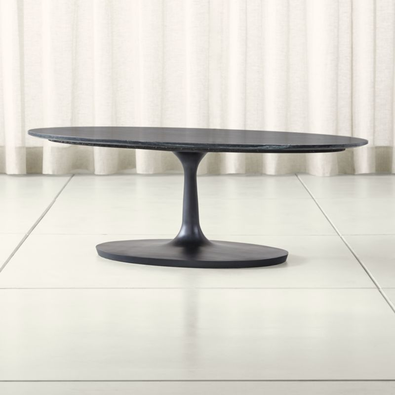 Nero Black Marble Oval Coffee Table