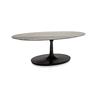 Nero Grey Marble Oval Coffee Table