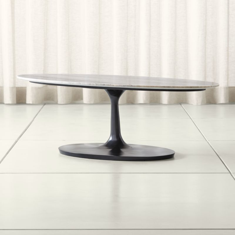 Crate And Barrel Black Marble Coffee Table: Nero Grey Marble Oval Coffee Table + Reviews