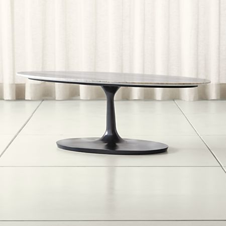 Nero Brown Marble Oval Coffee Table